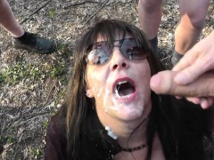 Slutwife Marion banged by plenty of cocks at dogging spots