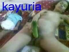 Malay Wifey with cucumber