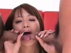 Insolent scenes of gangbang with Hazuki Okita