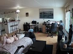 Amateur voyeur webcam BBW sucks cock for facial