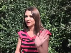 Blown by broke busty Russian in park