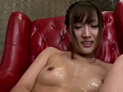 Japanese AV model Rio Fujisaki toyed close up