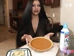 Boobalicious Latina Facial in Kitchen