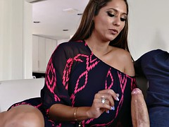 reena sky pulled his pants down and taught him how to jerk off