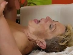 horny granny manages to ride the cock like in the old times
