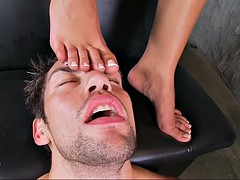 slovakian babe angel dark in mind blowing foot fetish video
