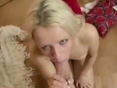 Skinny Step-Sister get First Fuck and Creampie by Step-Bro