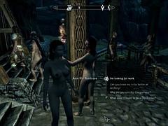Perils of escaped Skyrim slavegirl 06