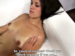 Veronika having sex on casting