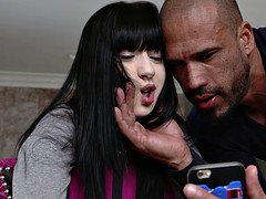 Cute ravenhaired babe Charlotte kidnapped and assfucked