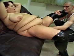 German BBW Fist and Anal