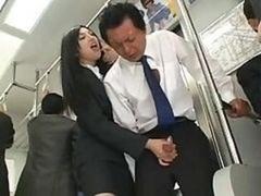Oriental Handjob In Bus