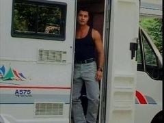 Hot gay sex in a van