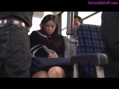Schoolgirl Getting Her Bra buddies Rubbed Squirting While Fingered By Men On The Bus