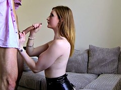 cocksucking british casting babe facialized