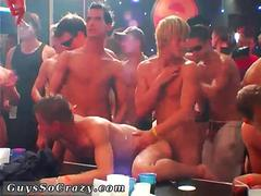 dancing guys get naked and get fucked in club