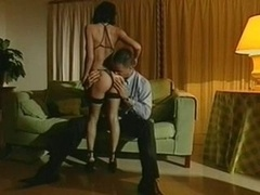 Utterly sexy Afrodite makes love in stockings