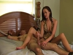 Ashely's Tickling Handjob With Tease And additionally Denial