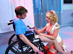 Nurse Kagney Linn Karter cures patient with anal sex