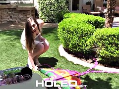 Kite crash next door leads to painless anal fuck for cute Lexi Lovell