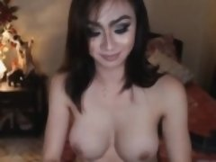 Seductive Tranny Enjoys Playing Her Cock and Ass