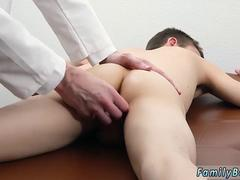 Cute boy gets to gobble that big cock and then get it up in his tight ass