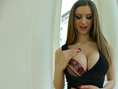 PrimeCups Britsh Stella Cox Big Tit cumshot after hard fuck