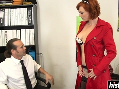 Redhead Audrey gets her butt drilled