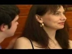 Russian son luring hot mom