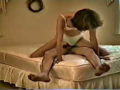 Kathy Gets Her Big Hairy Snatch Blasted With Cum