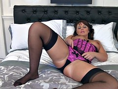 Solo By Hot Housewife With Stockings And Corset