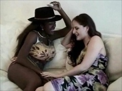 interracial lesbian get down and dirty utterly hard on sinceporn