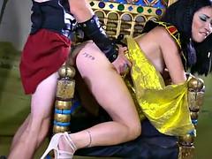 Rina imagines herself queen of Egypt commanding Danny
