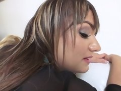 A big ass bimbo takes a big cock up her stretchable ass