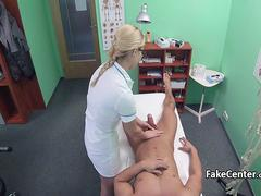 Nurse eager for cock fucking patient