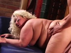 Fatty slut doggystyled after toying her pussy