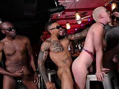 bald white riley nixon enjoys interracial gangbang with cuckold