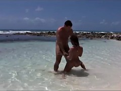 hot beach sex with the slutty brunette roberta gemma