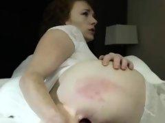 Sensual Big Boobs Camgirl Fucks Her Juicy Ass With A Dildo