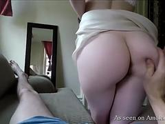 Cute babe jerks and sucks me off until I cum