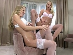 Taking a leak lesbo 18-19 year-old chicks