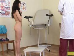 Russian Brunette Takes A Mature Cock