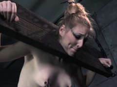 Restrained submissive pussy toyed deeply