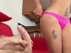 Latina shows us how her curves jiggle as she rides a dudes dick