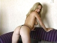Perfect Blonde Girl On Casting Couch