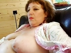 FRENCH Mature n52a rectal big beautiful wofellas mom three-way with 2 younger fellas