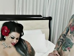 fat tattooed goth rides