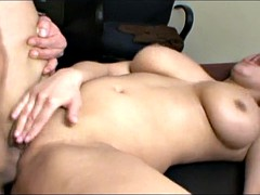 Busty Latina Works Hard At The Office