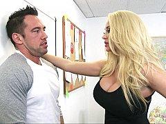 Américain, Blonde, Sucer une bite, Queue, Mère que j'aimerais baiser, Actrice du porno, Suçant, Professeur