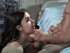 Slutty Dr. Sasha Grey takes two cocks in her ass